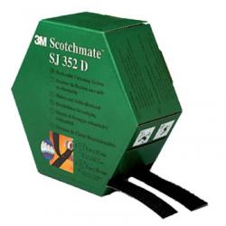 3M™ SJ-352D Klettband Schwarz 25mmx5m