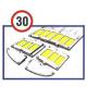 3M™ Stamark™ ralentisseur pour 30km/h partie de la rampe du coin mâle