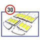3M™ Stamark™ speed reducer for 30km/h part of the ramp of the female corner