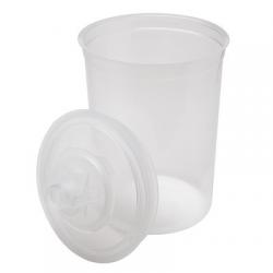3M™ PPS™ 16024 Innenbecher + Deckel (850 ml) - 125 microns
