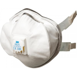 3M™ 8825 - FFP2 Maschera guscio antipolvere Premium con valvola CoolFlow™ 5 pce/box