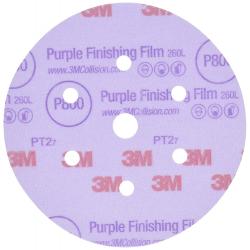 3M™ 260L Hookit™ Disque abrasif de finition P1500 15 trous
