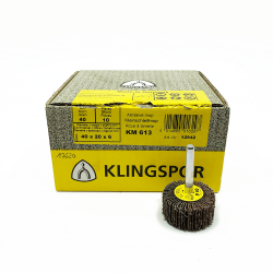 Klingspor KM 613 flap wheel P40 40x20x6mm