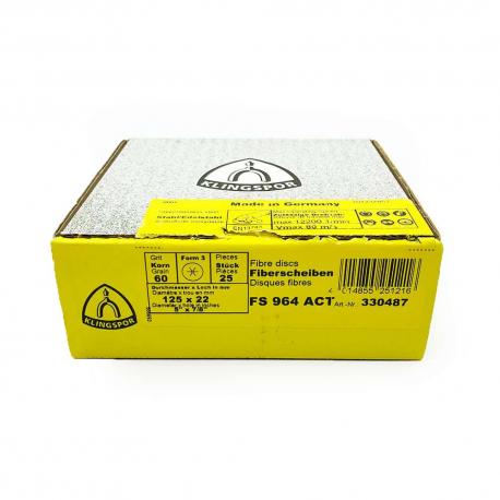 Disque fibre FS964 ACT P60 125 x 22 mm