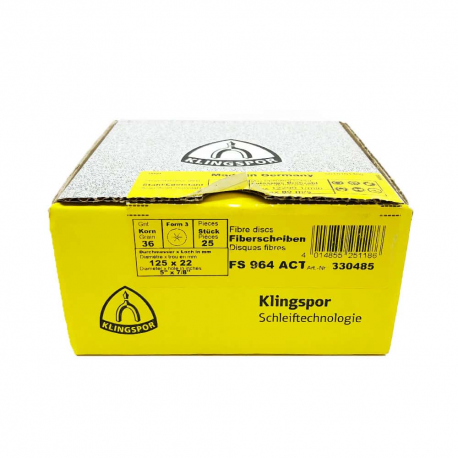Disque fibre FS964 ACT P36 125 x 22 mm