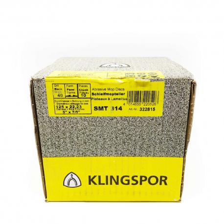 Klingspor disque fibre SMT 314 P40 125 x 22 mm