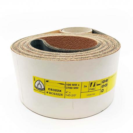 Abrasive belts Klingspor CS 322 X LIEGE 100x3700 mm