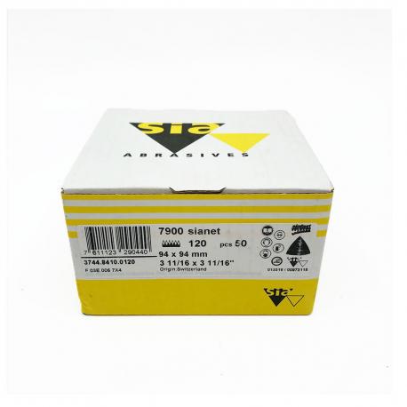 SIANET 7900 abrasive sheet hookit P120 94x94 mm