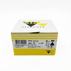 SIANET 7900 abrasive sheet hookit P80 94x94 mm