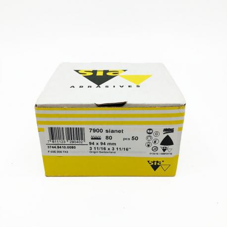 SIANET 7900 Schleifblatt hookit P80 94x94 mm