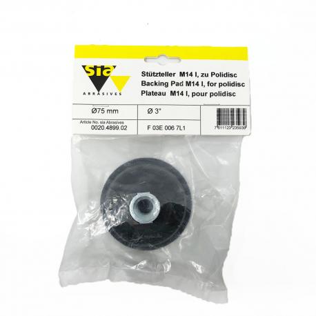 Backing pad 9092 hookit M14 for polidisc 75 mm