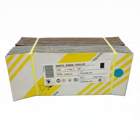 SIATUR 2946 abrasive sheet P60 93x230 mm