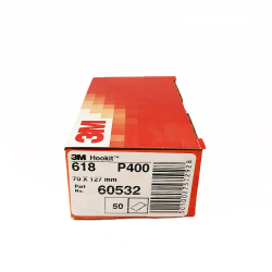 3M™ 618 carta asciutta P400 70x127 mm