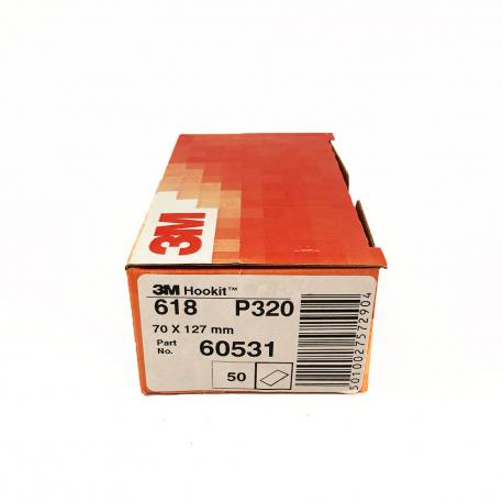 3M™ 618 Lackschleifpapier P320 70x127 mm