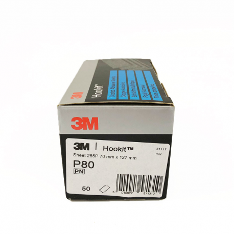 3M 255P sheets Hookit P80 70x 127 mm