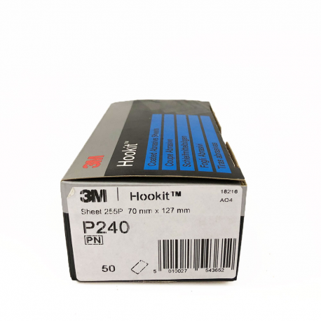 3M 255P sheets Hookit P240 70x127 mm