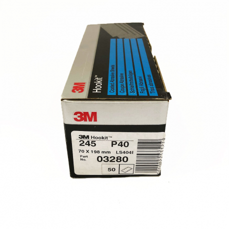 3M 245 Hookit sheet P40 70x198 mm 8 holes