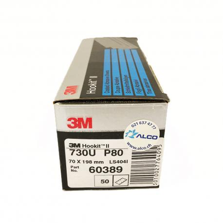 3M 730U Hookit sheet P80 70x198 mm 8 holes