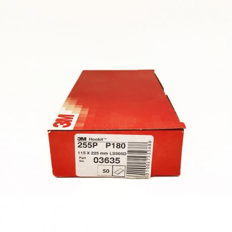 3M 255P sheets Hookit P180 115x225 mm
