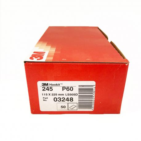 3M 245 dischi foglia P60 115x225 mm 10 trous