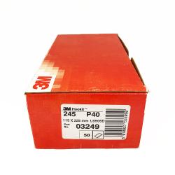 3M 245 dischi foglia P40 115x225 mm 10 trous