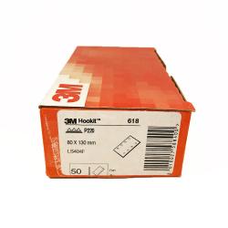 3M™ 618 feuille à sec P220 80x130 mm 8 trous