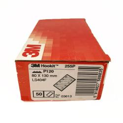 3M 255P feuille Hookit P120 80x130 mm 8 trous