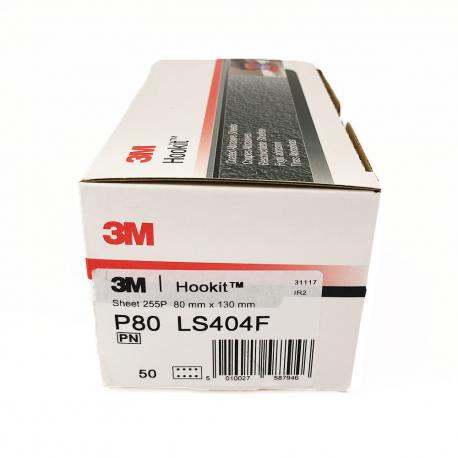 3M 255P dischi foglia P80 80x130 mm 8 trous