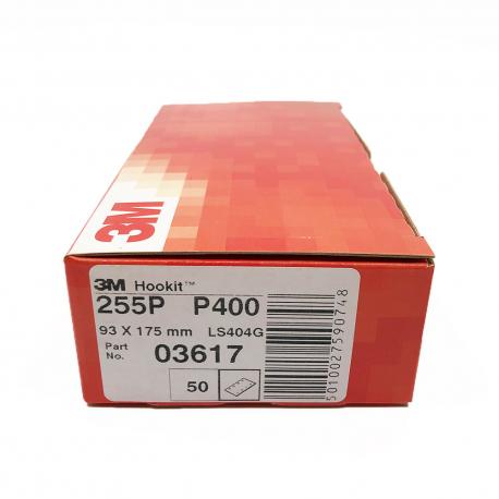 3M 255P sheets Hookit P400 93x175 mm 8 holes