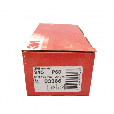 3M 245 Hookit sheet P60 93x175 mm 8 holes