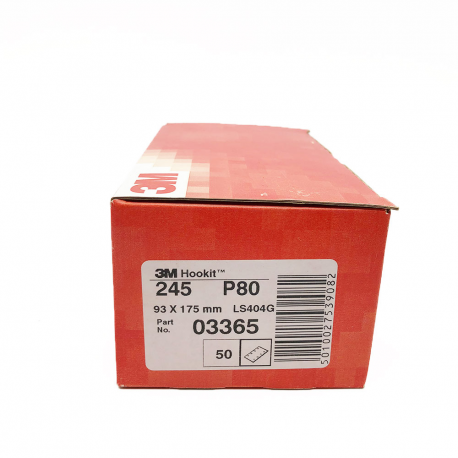 3M 245 Hookit sheet P80 93x175 mm 8 holes