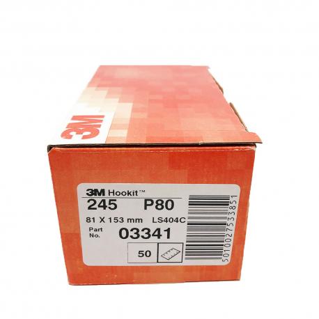 3M 245 dischi foglia P80 81x153 mm 8 fori