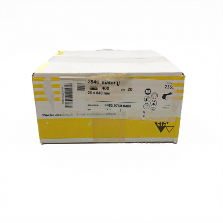 SIATUR 2946 abrasive belt P400 25x640mm
