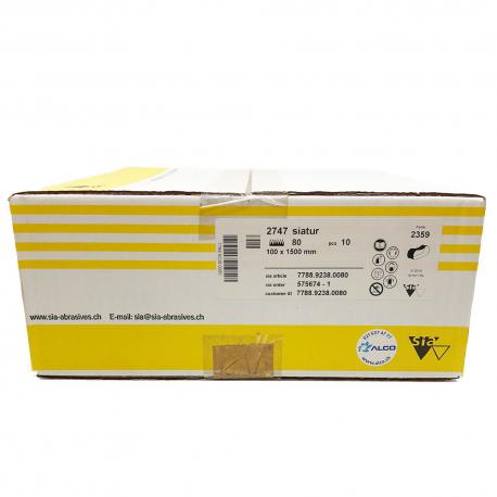 SIATUR 2747 abrasive belt P80 100x1500 mm