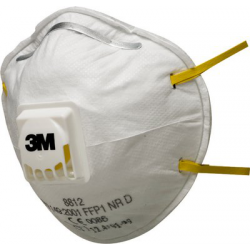 3M™ 8812 - FFP1 Anti dust mask shell with valve CoolFlow™ 10 pce/box