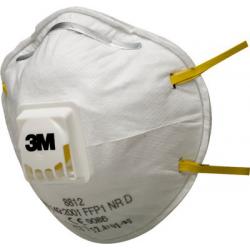 3M™ 8812 - FFP1 Masque antipoussière coque avec soupape Coolflow™ 10 pce/box
