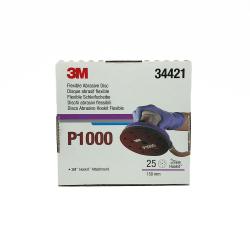 3M 34421 flexible abrasive Hookit disc P1000 150 mm