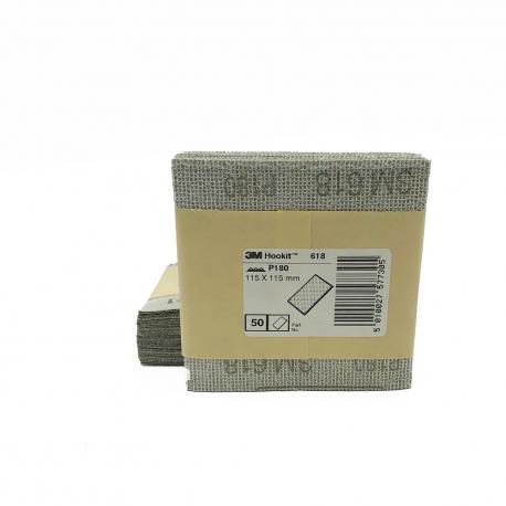 3M™ 618 feuille à sec P180 115x115mm
