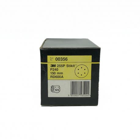 3M 00356 255P StickIt disc P240 150mm 6 holes