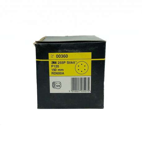 3M 00360 255P disque StickIt P120 150mm 6 trous