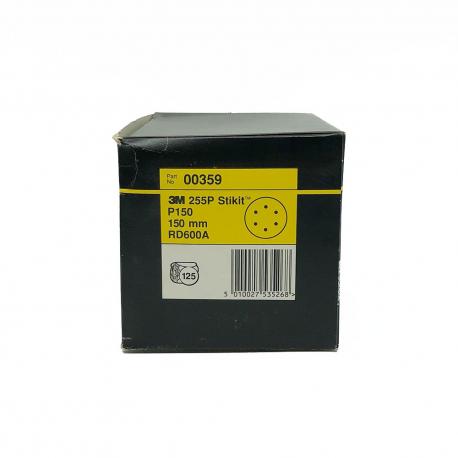 3M 00360 255P disque StickIt P150 150mm 6 trous