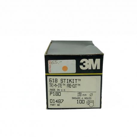 3M 01487 618 dischi StickIt P180 150mm 6 trous
