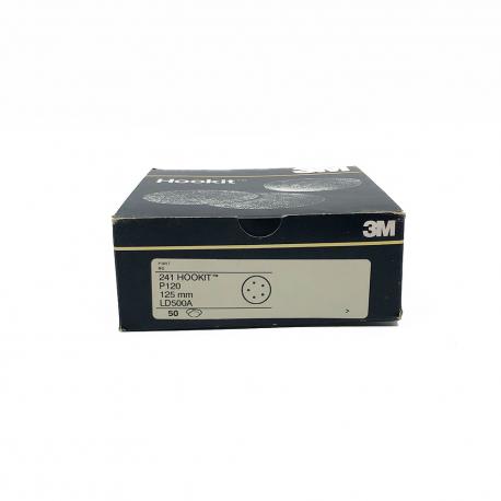 3M 241 dischi Hookit P120 125 mm 5 fori