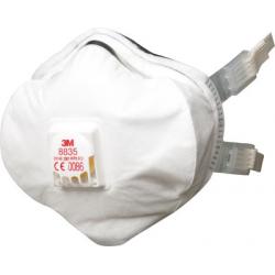 3M™ 8835 - FFP3 Maschera contro guscio di polveri Premium con valvola CoolFlow™ 5 pce/box