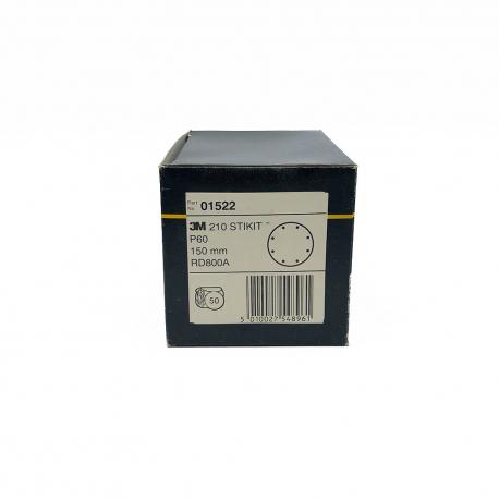 3M 01522 210 dischi StickIt P60 150 mm 8 fori