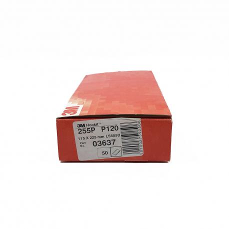 3M 255P sheets Hookit P120 115x225 mm 10 holes