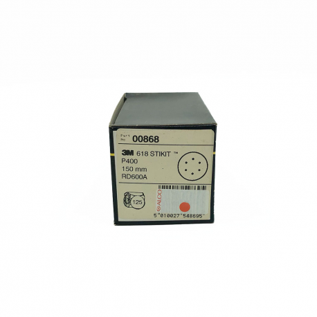 3M 00868 618 StickIt disc P400 150mm 6 trous
