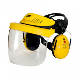 3M PELTOR G500 Optime I and visor V5 helmet