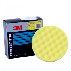 3M™ Perfect-It™ Mousse de Lustrage Jaune, Alvéolée, 150 mm, 50488