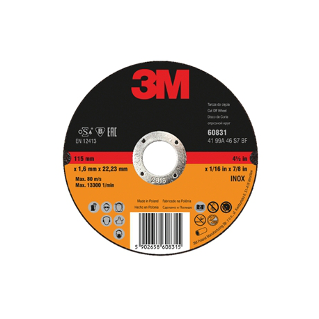 3M™ 60832 Disque INOX A46 125x1.6x22mm T41